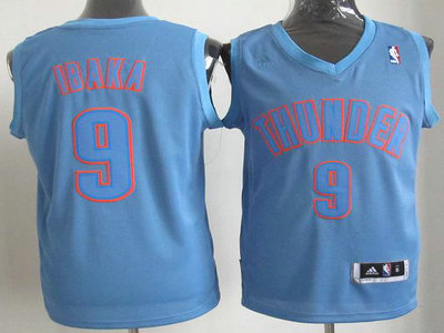Oklahoma City Thunder 9 Serge Ibaka Blue Revolution 30 Swingman Christmas Style Jerseys
