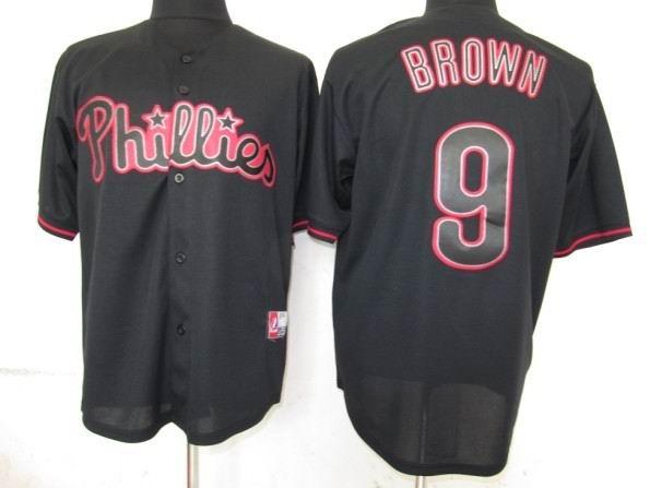Philadephia Phillis 9 Brown Black Fashion Jerseys