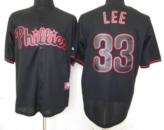 Philadephia Phillis 33 Lee Black Fashion Jerseys