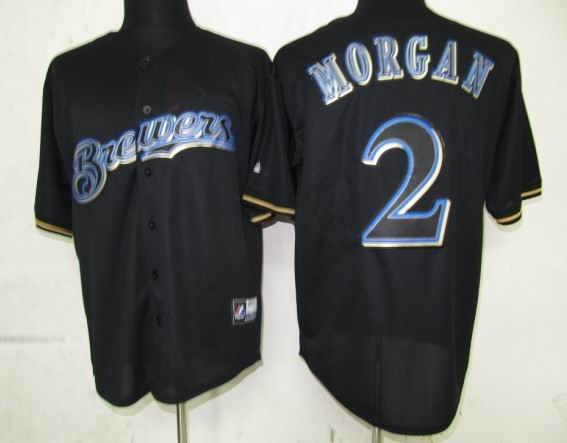 Milwaukee Brewers 2 Morgan Black Fashion Jerseys