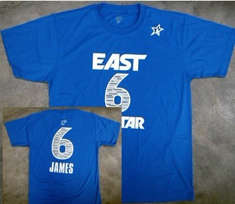 Miami Heat #6 LeBron James 2012 All-Star Blue T-Shirt