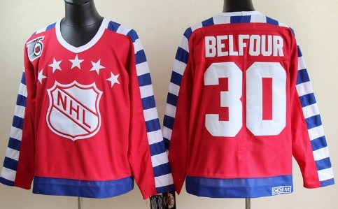 NHL 1992 All-Star #30 Ed Belfour Red Throwback CCM 75TH Jersey