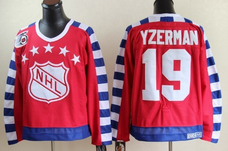 NHL 1992 All-Star #19 Steve Yzerman Red Throwback CCM 75TH Jersey