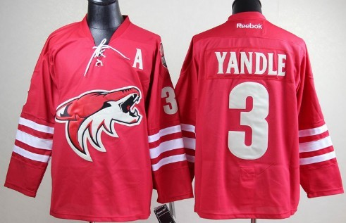 Phoenix Coyotes #3 Keith Yandle Red Jersey