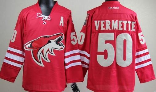 Phoenix Coyotes #50 Antoine Vermette Red Jersey