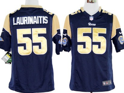 Nike St. Louis Rams #55 James Laurinaitis Navy Blue Game Jersey
