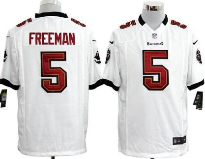 Nike Tampa Bay Buccaneers #5 Josh Freeman White Game Jersey