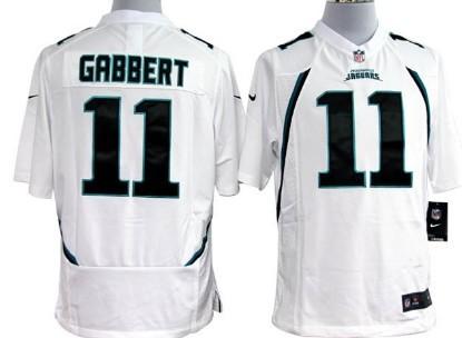 Nike Jacksonville Jaguars #11 Blaine Gabbert White Game Jersey