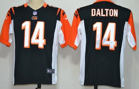 Nike Cincinnati Bengals #14 Andy Dalton Black Game Jersey