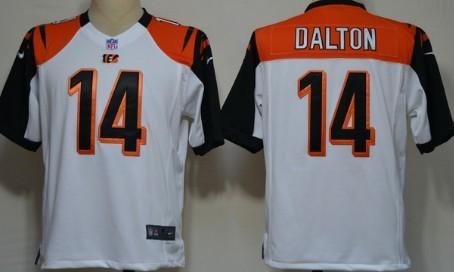 Nike Cincinnati Bengals #14 Andy Dalton White Game Jersey