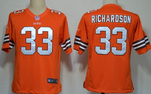 Nike Cleveland Browns #33 Trent Richardson Orange Game Jersey