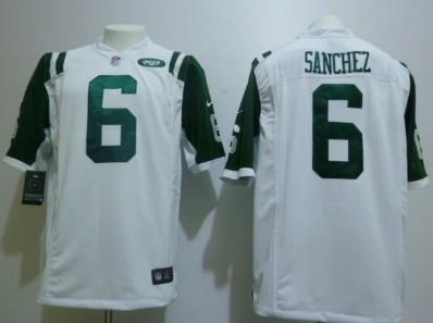 Nike New York Jets #6 Mark Sanchez White Game Jersey