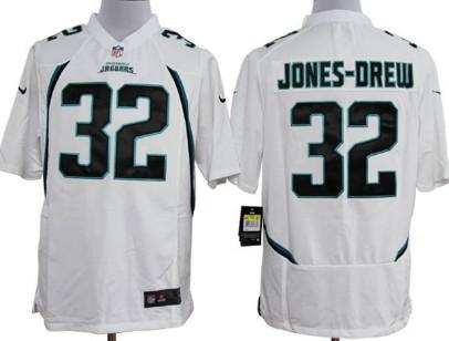 Nike Jacksonville Jaguars #32 Maurice Jones-Drew White Game Jersey