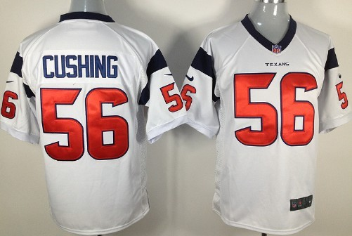 Nike Houston Texans #56 Brian Cushing White Game Jersey