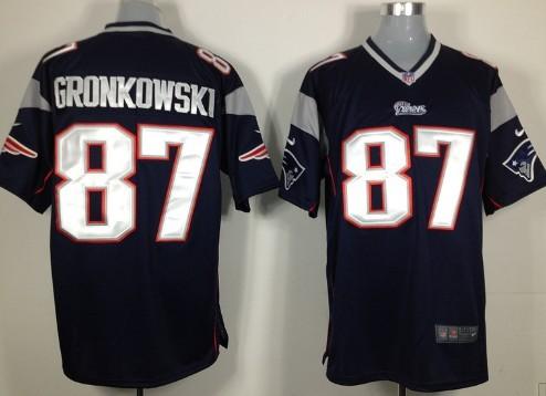 Nike New England Patriots #87 Rob Gronkowski Blue Game Jersey