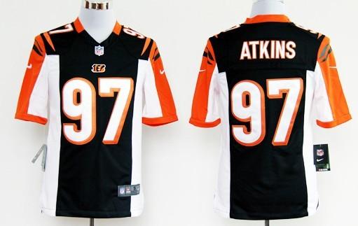 Nike Cincinnati Bengals #97 Geno Atkins Black Game Jersey