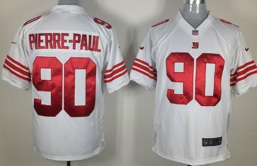 Nike New York Giants #90 Jason Pierre-Paul White Game Jersey