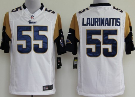 Nike St. Louis Rams #55 James Laurinaitis White Game Jersey