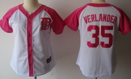 Detroit Tigers #35 Justin Verlander 2012 Fashion Womens by Majestic Athletic Jersey