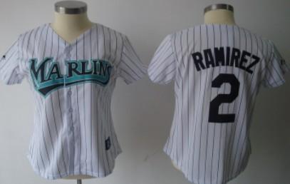 Florida Marlins #2 Ramirez White Womens Jersey