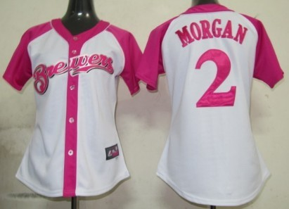 Milwaukee Brewers #2 Nyjer Morgan 2012 Fashion Womens by Majestic Athletic Jersey