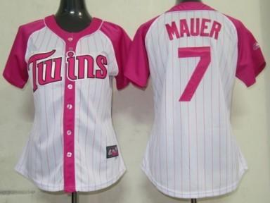 Minnesota Twins #7 Joe Mauer 2012 Fashion Womens by Majestic Athletic Jersey