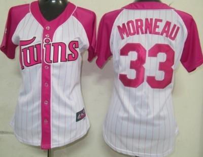 Minnesota Twins #33 Justin Morneau 2012 Fashion Womens by Majestic Athletic Jersey