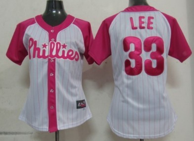 Philadelphia Phillies #33 Cliff Lee 2012 Fashion Womens by Majestic Athletic Jersey