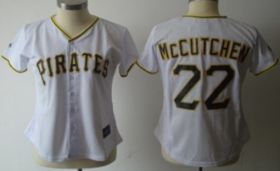 Pittsburgh Pirates #22 McCutchen White With Black Womens Jersey