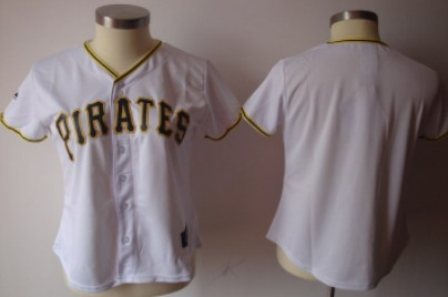 Pittsburgh Pirates Blank White Womens Jersey