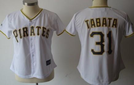 Pittsburgh Pirates #31 Tabata White Womens Jersey