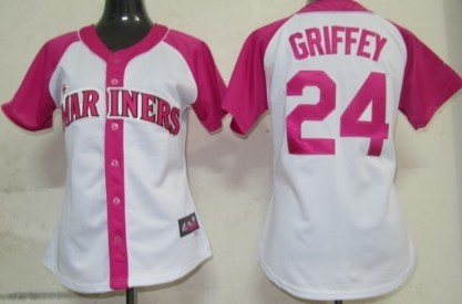 Seattle Mariners #24 Ken Griffey 2012 Fashion Womens by Majestic Athletic Jersey
