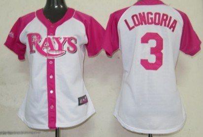 Tampa Bay Rays #3 Evan Longoria 2012 Fashion Womens by Majestic Athletic Jersey