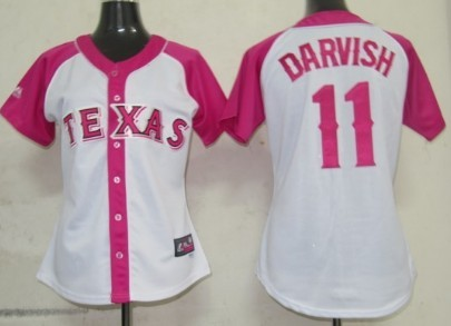 Texas Rangers #11 Yu Darvish 2012 Fashion Womens by Majestic Athletic Jersey