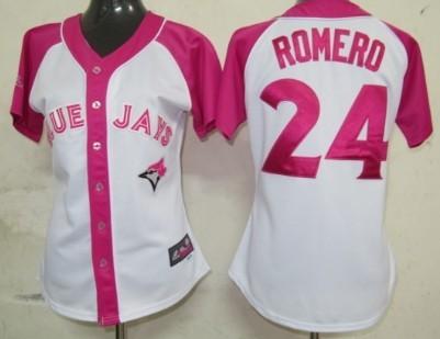 Toronto Blue Jays #24 Ricky Romero 2012 Fashion Womens by Majestic Athletic Jersey