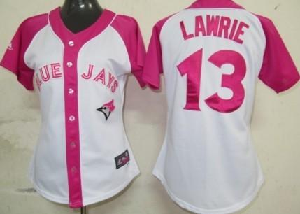 Toronto Blue Jays #13 Brett Lawrie 2012 Fashion Womens by Majestic Athletic Jersey