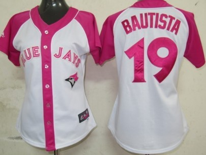 Toronto Blue Jays #19 Jose Bautista 2012 Fashion Womens by Majestic Athletic Jersey