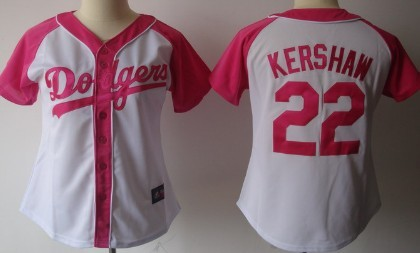 Los Angeles Dodgers #22 Clayton Kershaw 2012 Fashion Womens by Majestic Athletic Jersey