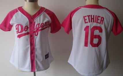 Los Angeles Dodgers #16 Andre Ethier 2012 Fashion Womens by Majestic Athletic Jersey