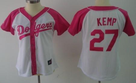 Los Angeles Dodgers #27 Matt Kemp 2012 Fashion Womens by Majestic Athletic Jersey