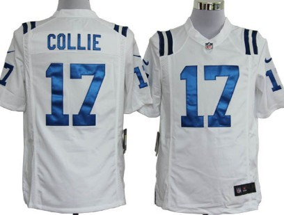 Nike Indianapolis Colts #17 Austin Collie White Game Jersey