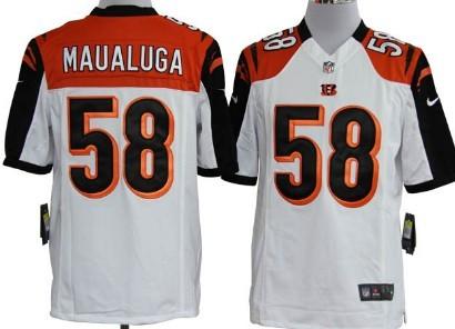 Nike Cincinnati Bengals #58 Rey Maualuga White Game Jersey