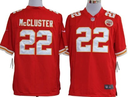 Nike Kansas City Chiefs #22 Dexter McCluster Red Game Jersey