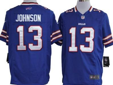 Nike Buffalo Bills #13 Steve Johnson Light Blue Game Jersey