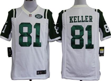 Nike New York Jets #81 Dustin Keller White Game Jersey