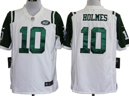 Nike New York Jets #10 Santonio Holmes White Game Jersey