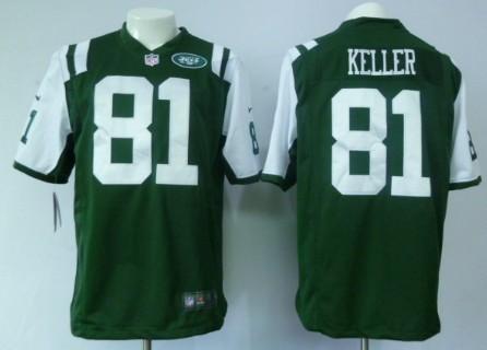 Nike New York Jets #81 Dustin Keller Green Game Jersey