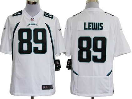 Nike Jacksonville Jaguars #89 Marcedes Lewis White Game Jersey