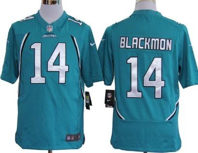Nike Jacksonville Jaguars #14 Justin Blackmon Green Game Jersey