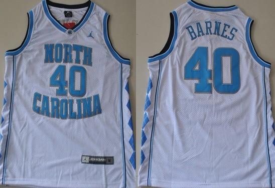 North Carolina Tar Heels #40 Harrison Barnes White Swingman Jersey